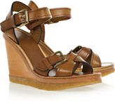 Handy leather wedge sandals