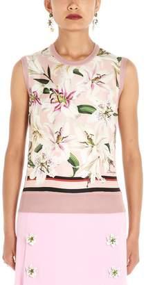 Dolce & Gabbana Floral Print Knitted Vest