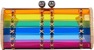 Baoba Rattan Rainbow Clutch