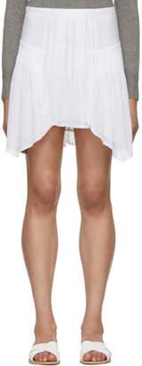 Etoile Isabel Marant White Akala Miniskirt