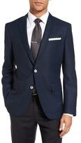 BOSS Men's Hutsons Trim Fit Plaid Wool Sport Coat