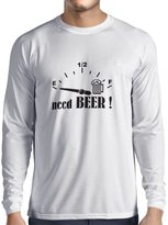 lepni.me N4174L T-shirt long sleeve Need a BEER ! gift ( Black Gold)