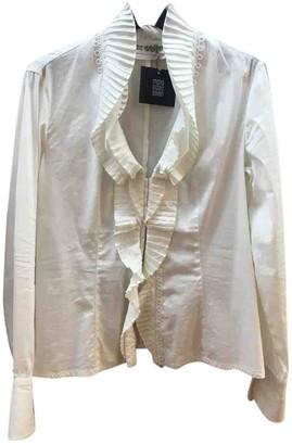 Grazia Maria Severi White Silk Top for Women