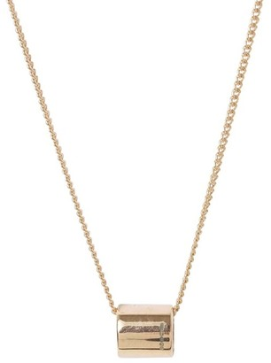Katie Mullally Sliding Oval Rose Gold Plated Necklace