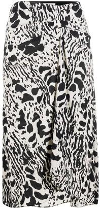 BA&SH Opera animal-print skirt