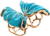 Lucifer Vir Honestus Turquoise Double Butterfly Ring