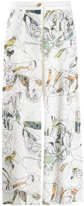 Chalayan Embroidered Trousers
