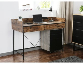 17 Stories Replogle Writing Desk with Hutch
