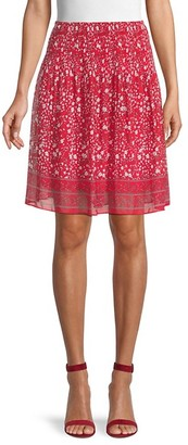 Max Studio Patterned Circle Skirt