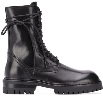 Ann Demeulemeester Mid-Calf Leather Boots
