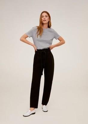 MANGO Essential cotton-blend t-shirt medium heather grey - XS - Women