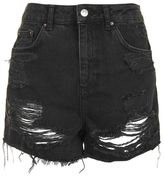Topshop Moto high waisted rip mom short
