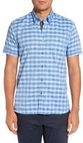 Ted Baker Men's 'Ringstd' Modern Slim Fit Gingham Sport Shirt