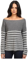 Michael Stars Blend Striped Boat Neck Pullover