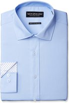 Nick Graham Men's Solid Cotton Poplin Dress Shirt- Modern Fit- Spread Collar