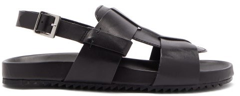 Grenson Wiley Buckled Leather Sandals - Black