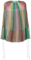 M Missoni rainbow stripe poncho - women - Polyamide/Viscose/Metallic Fibre - One Size