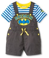 Batman Newborn Boys' 2 Piece Romper Set - Grey