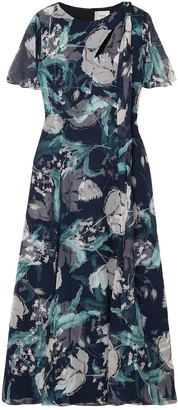 Erdem Kirstie Floral-print Silk-voile Midi Dress