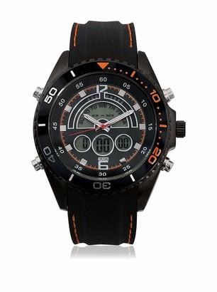Munich Unisex Adult Digital Quartz Watch with Rubber Strap MU+123.1B