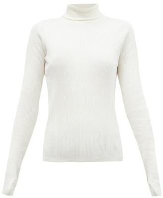 Reebok x Victoria Beckham Roll-neck Ribbed Wool-blend Top - Ivory
