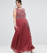 Lovedrobe Luxe Hand Embellished Pleated Maxi Dress