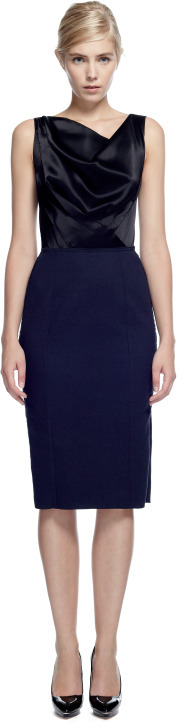 Nina Ricci Preorder Satin And Cotton Dress