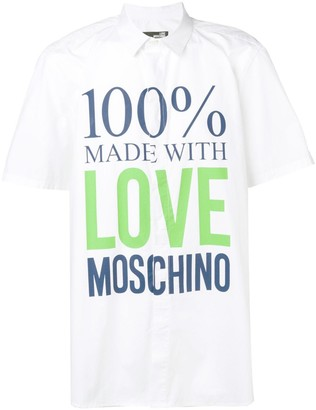 Love Moschino '100% Made With Love' shirt