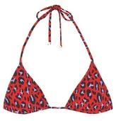 Stella McCartney Leopard-print triangle bikini top