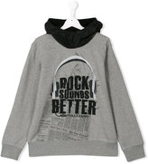 John Galliano Rock Sounds Better hoodie - kids - Cotton/Nylon/Polyamide - 14 yrs