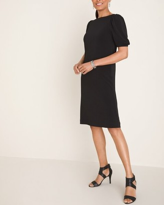 Chico's Solid Puff-Sleeve Dress