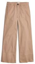 Madewell Women's Wide Leg Crop Chino Pants
