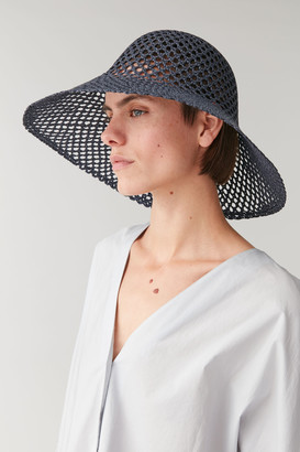 Cos Broderie-Anglais Patterned Hat