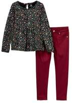 AG Jeans 2-Piece Printed Jersey Top & Solid Pants (Toddler Girls)
