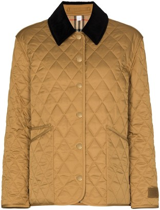 Burberry Dranefeld quilted contrast-collar jacket