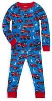 Hatley Little Boy's & Boy's Two-Piece Fire Trucks Cotton Pajama Set