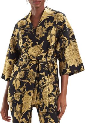 Natori Flower Jacquard Kimono Jacket