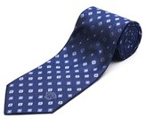 Versace Men's Medusa Head Silk Neck Tie Navy Blue.