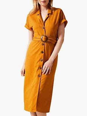Phase Eight Jamelia Shirt Dress, Ochre