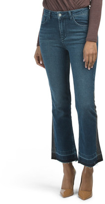 Two Tone Cutoff Bootcut Jeans