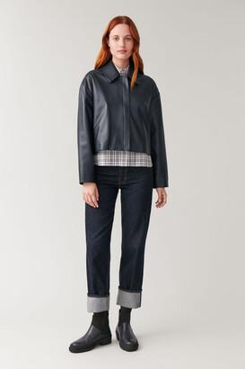 Cos Zip-Up Leather Jacket