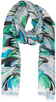 Emilio Pucci Abstract Print Linen Scarf
