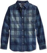Tommy Hilfiger Boys' Maxwell Denim Plaid Button-Down Shirt