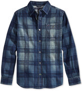 Tommy Hilfiger Little Boys' Maxwell Denim Plaid Button-Down Shirt