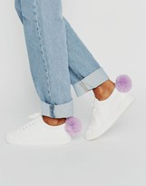 Daisy Street Pom Pom Sneakers