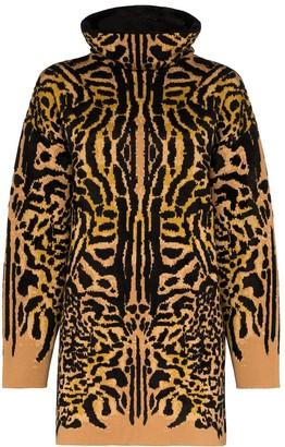 Givenchy Turtleneck Cheetah Jacquard Jumper