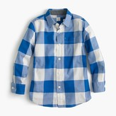 J.Crew Kids' Secret Wash shirt in cobalt gingham