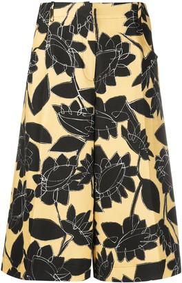Jacquemus Floral Print Wide Leg Shorts