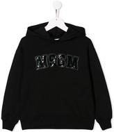 MSGM Kids sequin logo hoodie