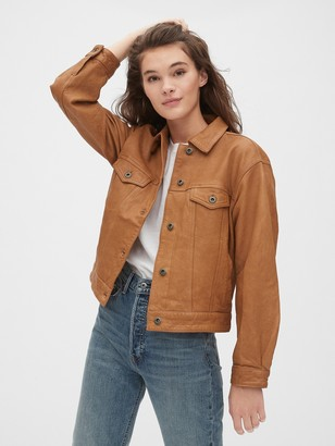 Gap 1969 Premium Oversized Icon Leather Jacket